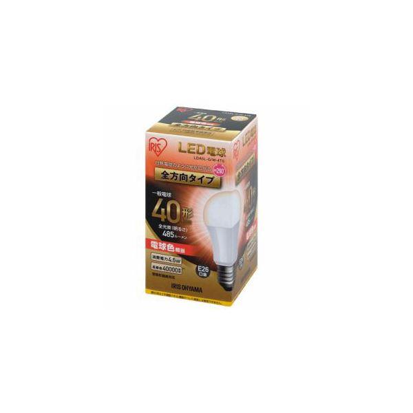 (まとめ) アイリスオーヤマ LED電球 40形相当 全方向タイプ 電球色相当 LDA5LGW4T5 【×5セット】