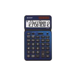 SHARP 卓上電卓 12桁 50周年記念モデル ディープブルー EL-VN82-AX