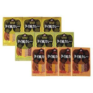 3種のタイ風カレーセット【10個】(タイ風レッドカレー×4、タイ風グリーンカレー・タイ風イエローカレー×各3)