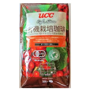 UCC上島珈琲UCCCN有機+RA認証コーヒーダークロースト(豆)AP500g12袋入りUCC302816000
