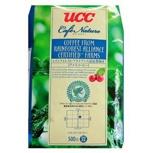 UCC上島珈琲カフェネイチャーレインフォレストアライアンス認証アイスコーヒー豆AP500g12袋入りUCC302679000
