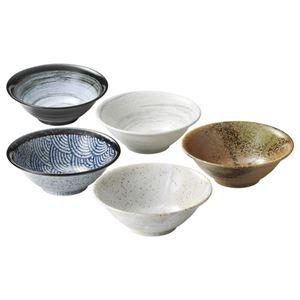 (まとめ)和柄麺鉢5柄【×2セット】