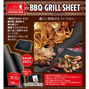 (まとめ)ピーナッツクラブ OUTDOOR MAN BBQグリルシート2枚セット KK-00371【×3セット】