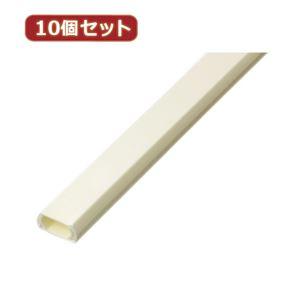 (まとめ)YAZAWA 10個セットテープ付モール 2号 1m オフホワイト FF2WX10【×2セット】