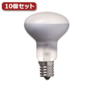 (まとめ)YAZAWAミニレフ球R50E17口金50W10個セットRF501750X10【×2セット】