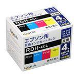 (まとめ)ワールドビジネスサプライ Luna Life エプソン用 RDH-4CL 互換インクカートリッジ 4本セット【×2セット】