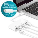 エレコム USBHUB/USB3.1(Gen1)/PD対応/Type-Cコネクタ/Aメス2ポート/Cメス2ポート/バスパワー/ホワイト U3HC-A423P5WH