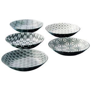 (まとめ)The modern Japanism komon クープスープ皿5枚セット B3117114【×2セット】