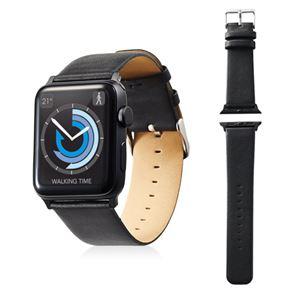 エレコム Apple Watch 42mm/ソフトレザーバンド/フラットスクエアタイプ/ブラック AW-42BDLFSBK