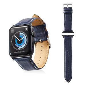 エレコム Apple Watch 42mm/ソフトレザーバンド/ラウンドボートタイプ/ネイビー AW-42BDLRBBU