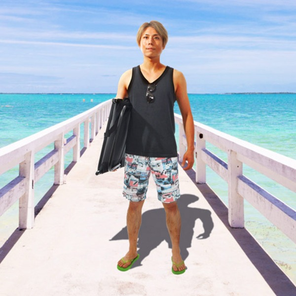 (まとめ)サンコー どこでも寄りかかれる「背もたれ付きビーチシート」 BAKFDMAT【×2セット】