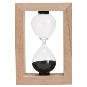 (まとめ)砂時計 5分計 木製フレーム M80110328【×2セット】