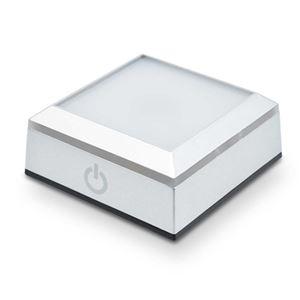 (まとめ)日本トラストテクノロジー LEDライト台座 SQUARE RGB LEDBASESQ-RGB【×2セット】