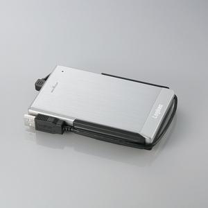 Logitec(ロジテック) USB2.0 アルミボディ&耐衝撃ポータブルHDD 250GB(シルバー)