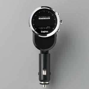 Logitec(ロジテック) 充電機能搭載 車載用FMトランスミッター (ブラック) LAT-FM120UBK - 拡大画像