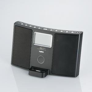 Logitec(ロジテック) FM/AMチューナー搭載 iPod Dock対応Hi-Fiサウンドシステム(ブラック) LDS-RI710BK - 拡大画像