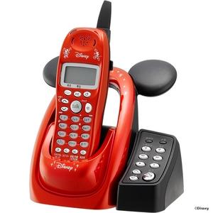 ユニデン ディズニーキャラクターコードレス留守番電話機(ディズニー着信音)UCT-012R メタリックレッド  - 拡大画像