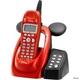 ユニデン ディズニーキャラクターコードレス留守番電話機(ディズニー着信音)UCT-012R メタリックレッド  - 縮小画像1