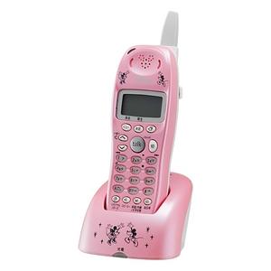 ユニデン ディズニーキャラクターコードレス電話増設子機(ディズニー着信音)UCT-012HS-P パールピンク - 拡大画像