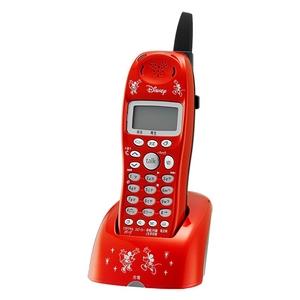 ユニデン ディズニーキャラクターコードレス電話増設子機(ディズニー着信音)UCT-012HS-R メタリックレッド - 拡大画像
