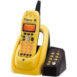 ユニデン 阪神タイガースデジタルコードレス留守番電話機 UCT-002-TY イエロー - 拡大画像