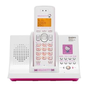 ユニデン ハローキティデジタルコードレス留守番電話機 UCT-005-P ピンク - 拡大画像