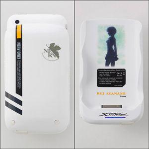 エヴァンゲリヲン iPhone3G(S)専用筐体保護型蓄電器 REIモデル   ☆☆☆送料無料☆☆☆