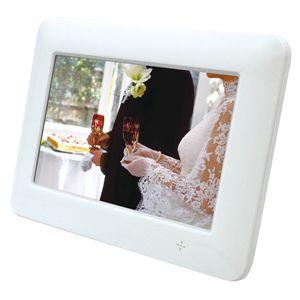 デジタル液晶パネル採用 7型デジタルフォトフレーム ホワイト