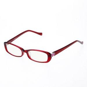 鯖江製 ヨシムラ ブルーライト対応PCメガネ レッド NCP-0149RD - 拡大画像