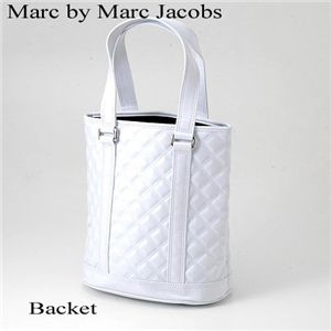 Marc by Marc Jacobs(マークバイマークジェイコブス) キルティング ホワイト バッグ Backet - 拡大画像