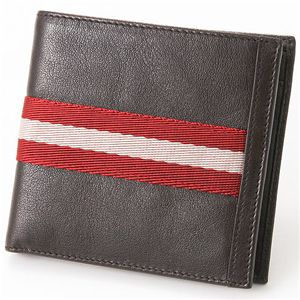 BALLY(バリー) ふたつ折り財布 TIEN N91・Chocolate - 拡大画像