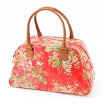 Cath Kidston バッグ  Bowling Bag With Leather  230735 Afghan Flowers Red【送料無料】