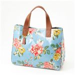 Cath Kidston バッグ STAND UP TOTE with LEATHER  230087 Box Floral Blue【送料無料】