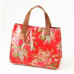 Cath Kidston バッグ STAND UP TOTE with LEATHER  230117 Afghan Flowers Red【送料無料】