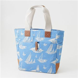 CATH KIDSTON(キャスキッドソン) 縦型トート TALL TOTE WITH LEATHER 244718・Boat Royal Blue - 拡大画像