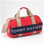 TOMMY HILFIGER(トミーヒルフィガー) ボストンバッグ HARBOUR POINT2 Red×Navy