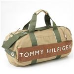 TOMMY HILFIGER(トミーヒルフィガー) ボストンバッグ HARBOUR POINT2 Khaki×Brown