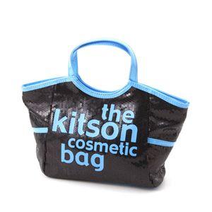 kitson(キットソン) コスメティック バッグ KSG0141・Black×Blue - 拡大画像