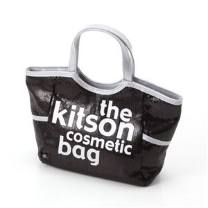 kitson(キットソン) スパンコールコスメティックバッグ(SEQUIN COSMETIC TOTE)KSG0146 Black×White - 拡大画像