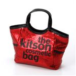 kitson(キットソン) コスメティック バッグ KSG0153・Red×Black