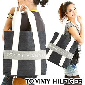 TOMMY HILFIGER(トミーフィルフィガー) デニム トートバッグ N/S TOTE HARBOUR POINTII