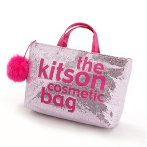 kitson(キットソン) バッグinバッグ GLITTER MATERIAL COSMETIC BAG KSG0178・Pink×Pink