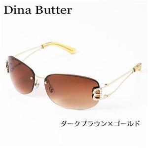 Dina Butter サングラス 101-2/ダークブラウン×ゴールド - 拡大画像