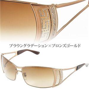 VERSACE(ベルサーチ) サングラス Asian Fitting 2059BA-1169/13/ブラウングラデーション×ブロンズゴールド - 拡大画像