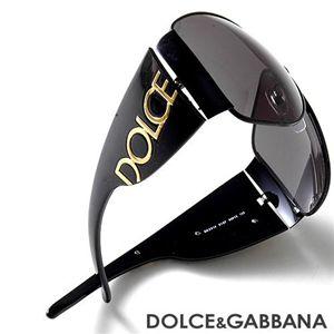 DOLCE&GABBANA サングラス 2014-01/87/スモーク×ブラック&ゴールド - 拡大画像