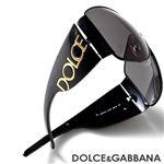 DOLCE&GABBANA サングラス 2014-01/87/スモーク×ブラック&ゴールド