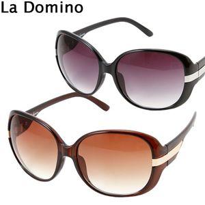 La Domino(ラ ドミノ) ユニセックス サングラス BS1645/ブラックグラデーション×ホワイト(2010)