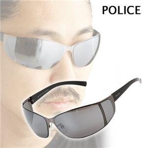 POLICE(ポリス) サングラス 8101-509X/スモークミラー×ガンメタル&ブラック