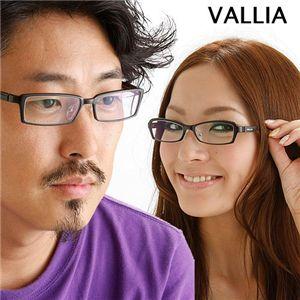 VALLIA(バリア) ダテメガネ 102-3/【B】メタリックグレー