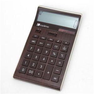 電卓 cadena calculator CCA-107 ブラウン(木目調)